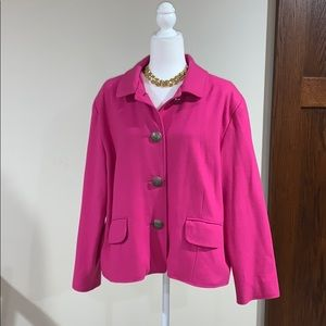 Chicos pink wool blend jacket. Size 3